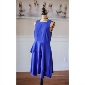 Halston Heritage Blue Sleeveless Dress NWT